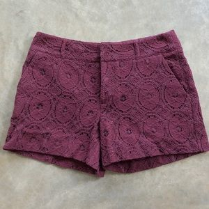 Elle Burgundy Shorts